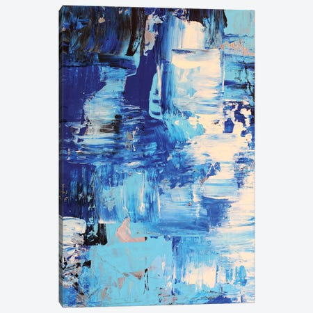 Blue Abstract I Canvas Print #DZH19} by Radiana Christova Canvas Art Print