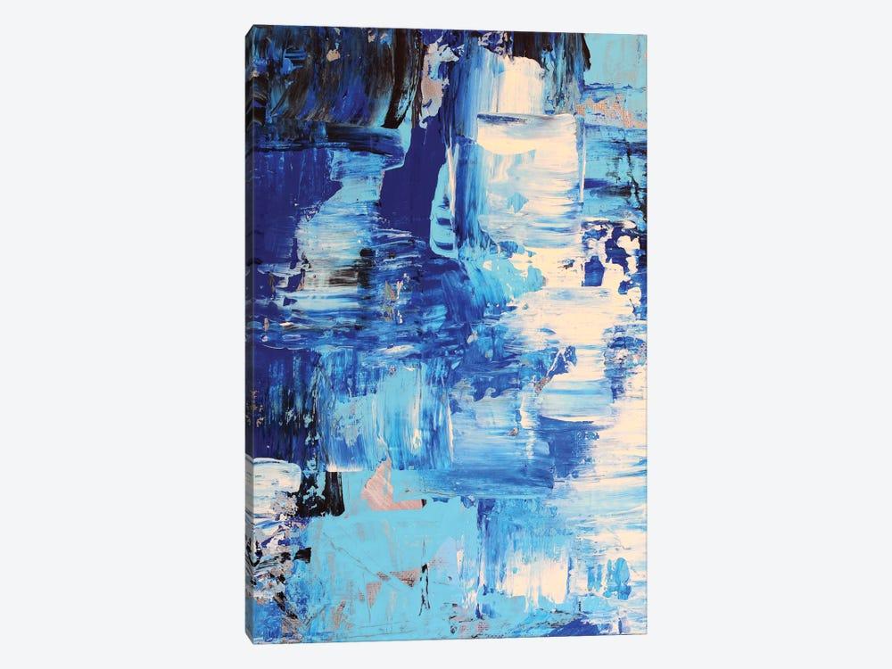 Blue Abstract I by Radiana Christova 1-piece Canvas Art Print