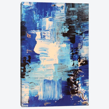 Blue Abstract II Canvas Print #DZH20} by Radiana Christova Canvas Art