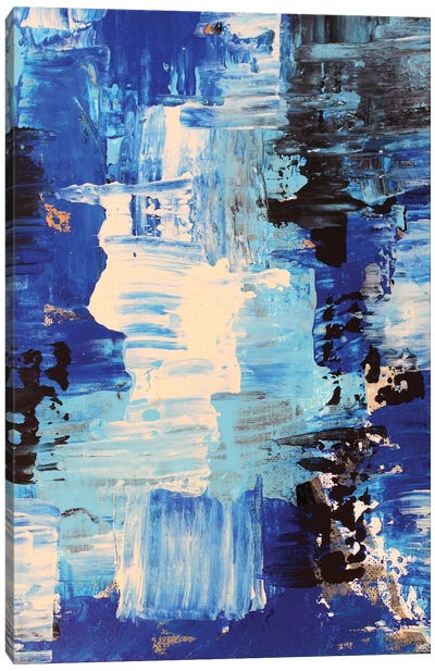 Blue Abstract II Canvas Art Print