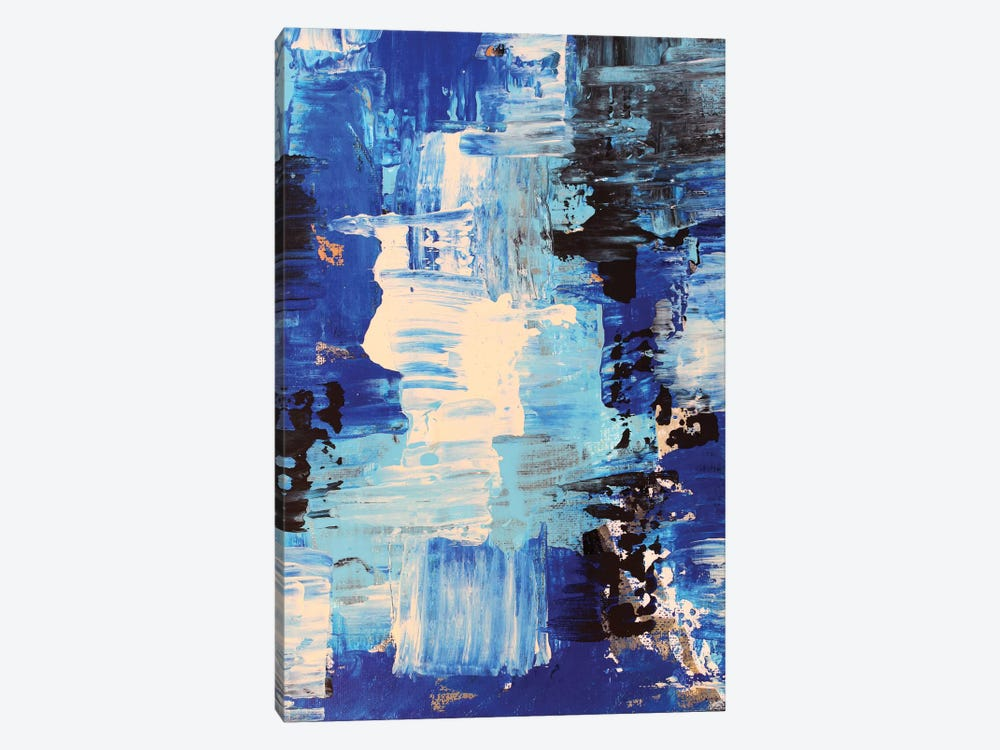 Blue Abstract II by Radiana Christova 1-piece Canvas Art Print