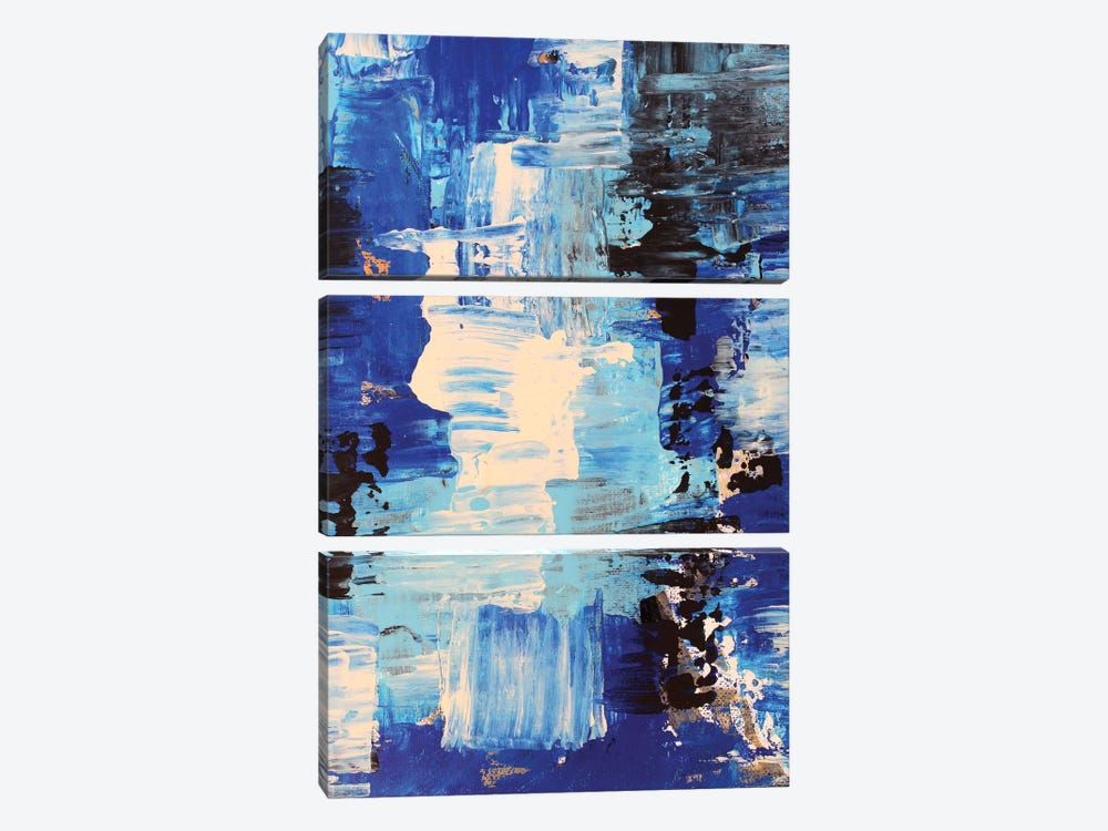 Blue Abstract II by Radiana Christova 3-piece Canvas Art Print