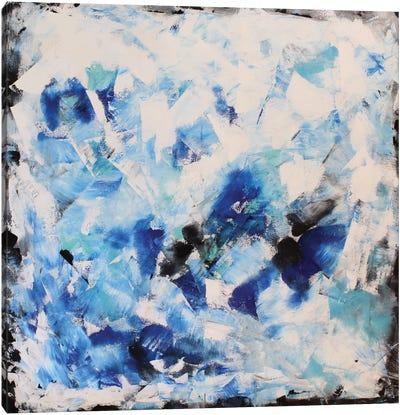 Blue Impression Canvas Print #DZH22