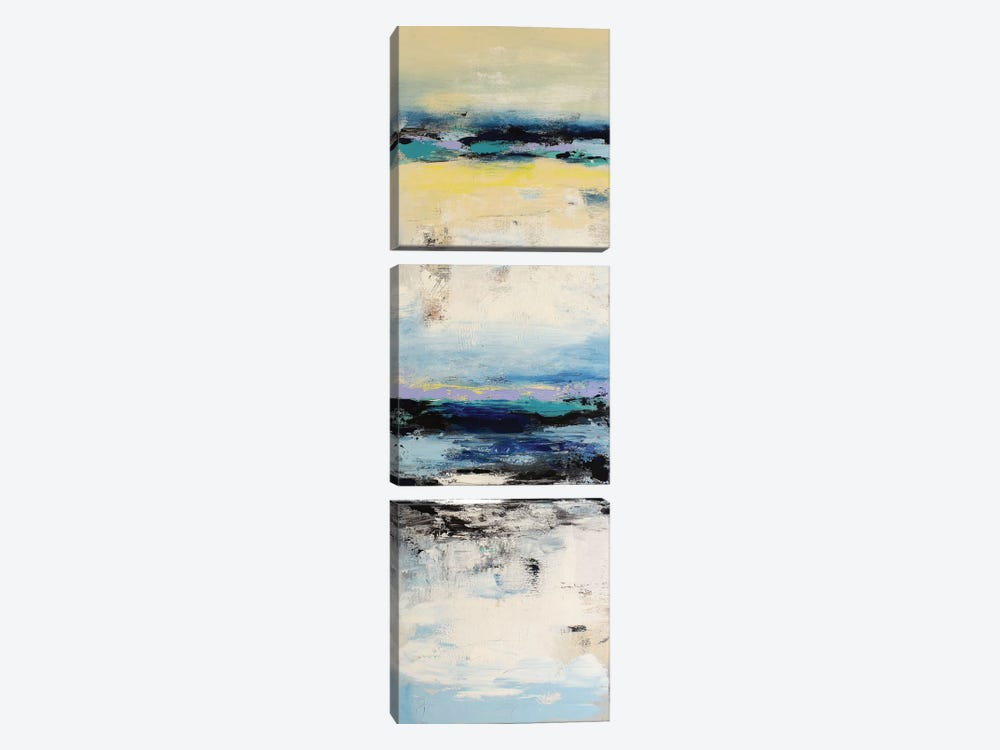 Coastal Abstraction I by Radiana Christova 3-piece Canvas Wall Art