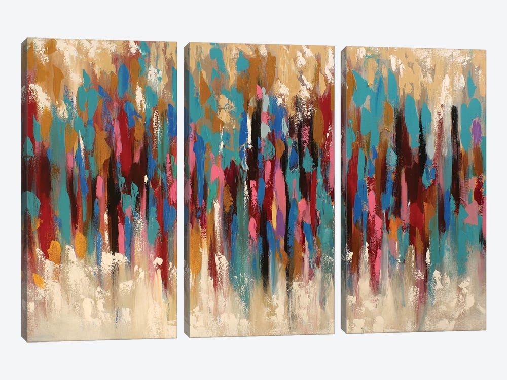 Colorful Composition by Radiana Christova 3-piece Canvas Artwork