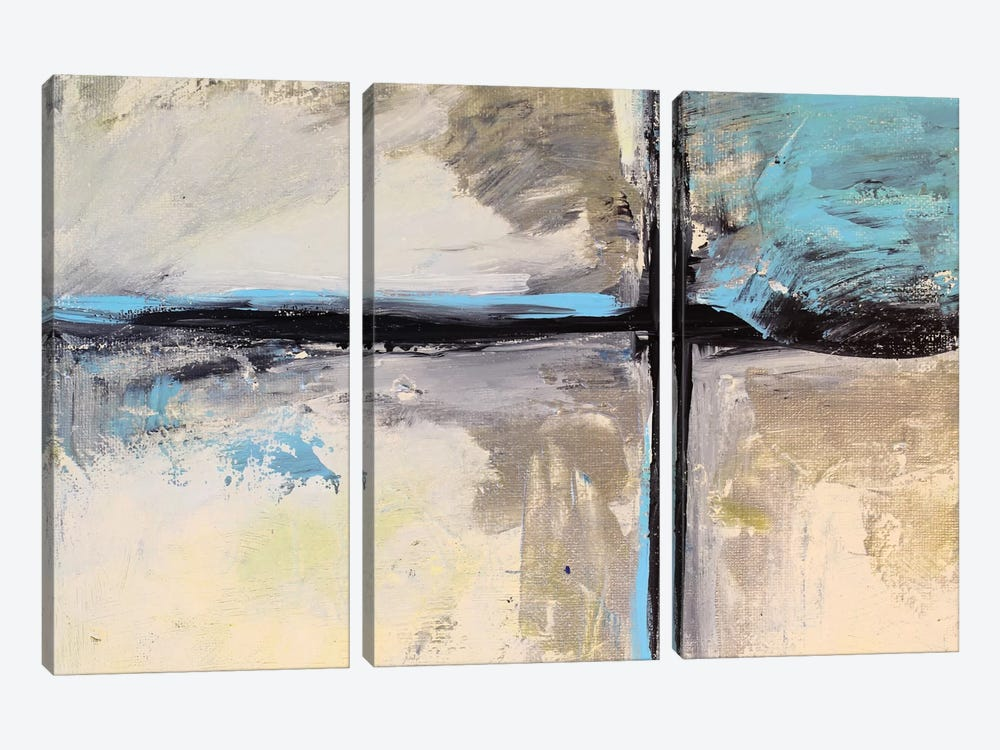 Abstract Composition VIII by Radiana Christova 3-piece Canvas Wall Art