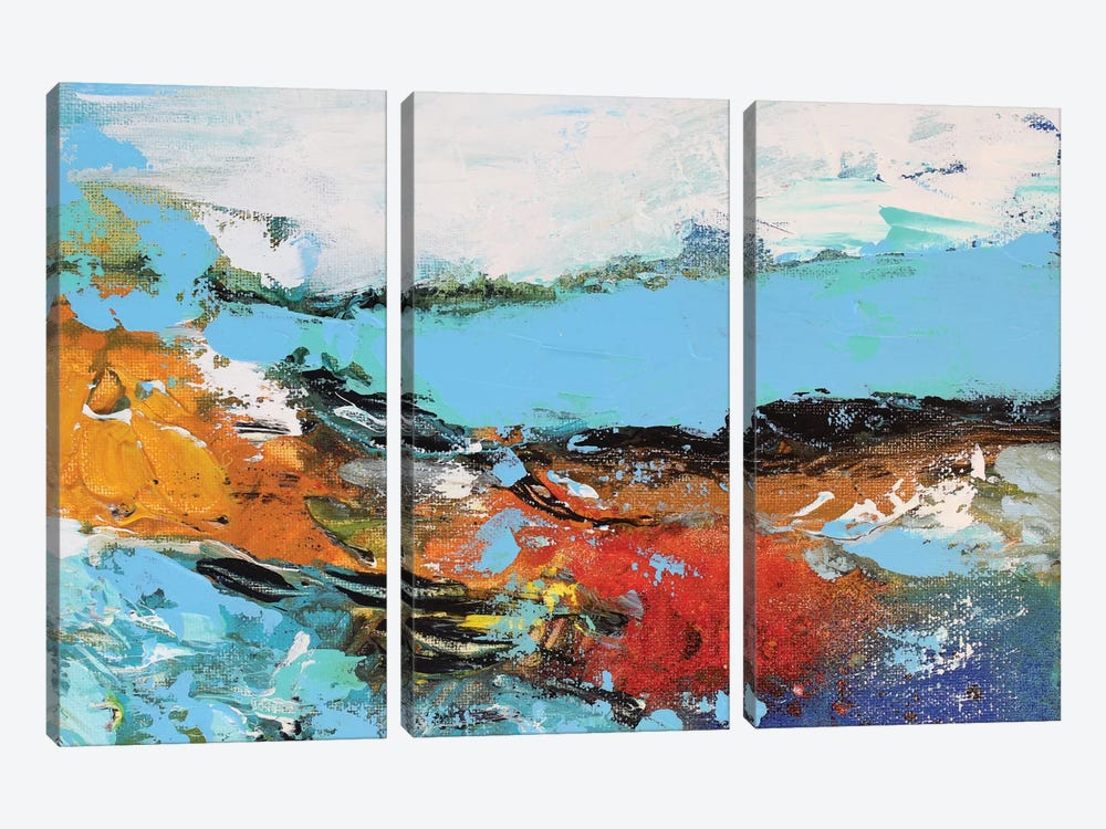 Lakeview by Radiana Christova 3-piece Canvas Wall Art