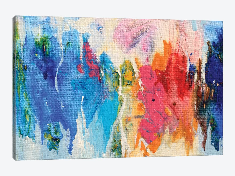 Abstract Composition XIV by Radiana Christova 1-piece Canvas Art Print