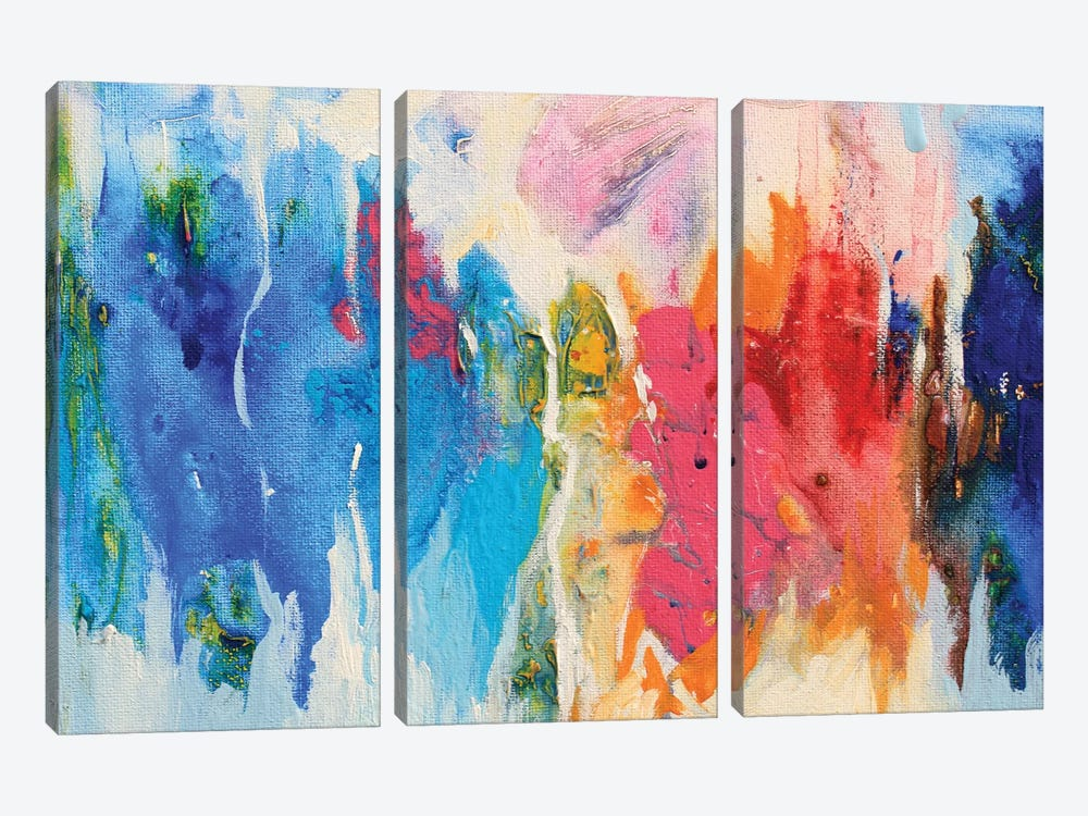 Abstract Composition XIV by Radiana Christova 3-piece Art Print