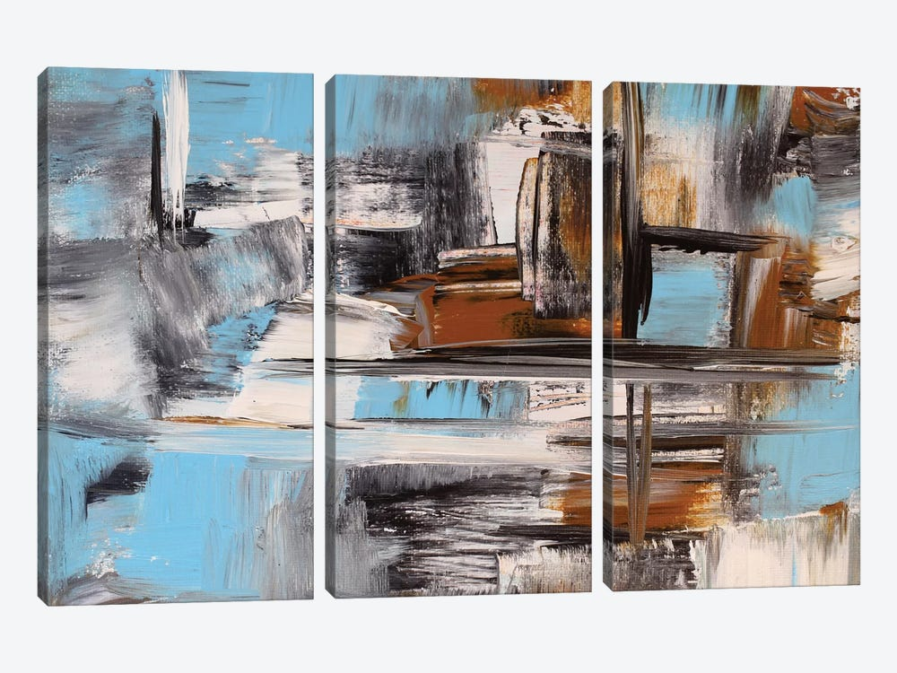 On The Lake by Radiana Christova 3-piece Canvas Wall Art