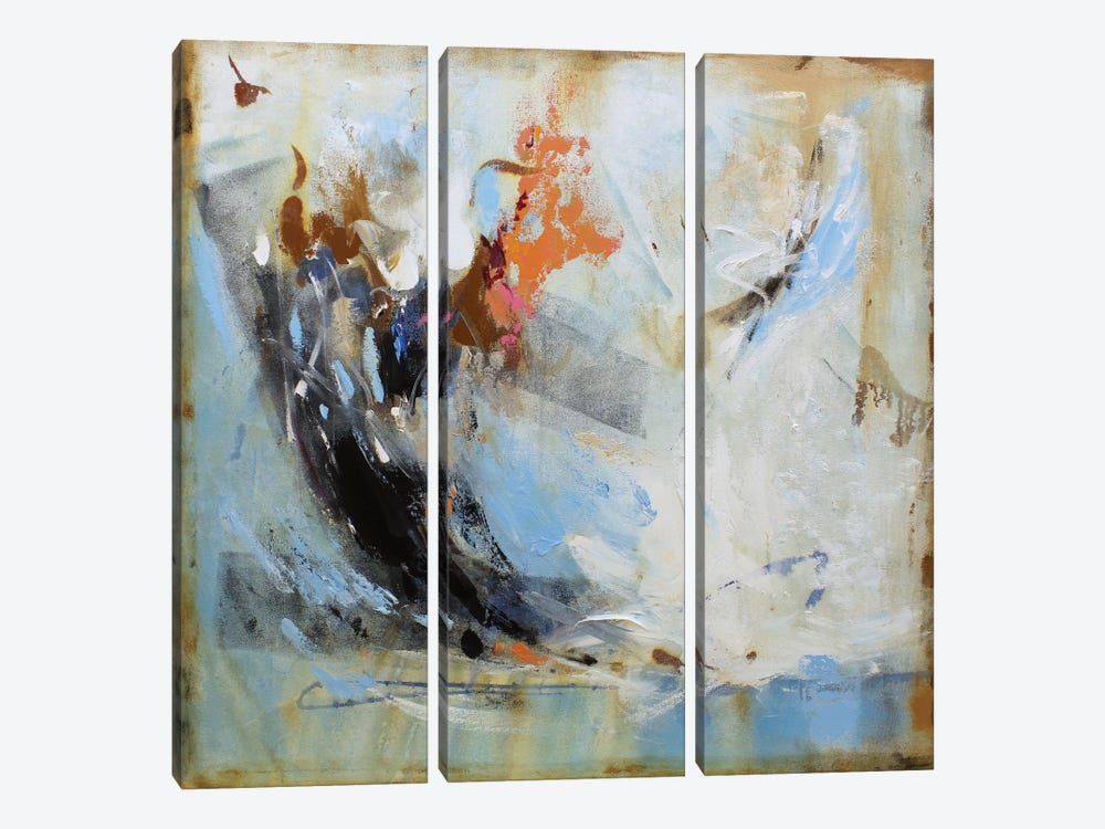Passion I by Radiana Christova 3-piece Canvas Art Print