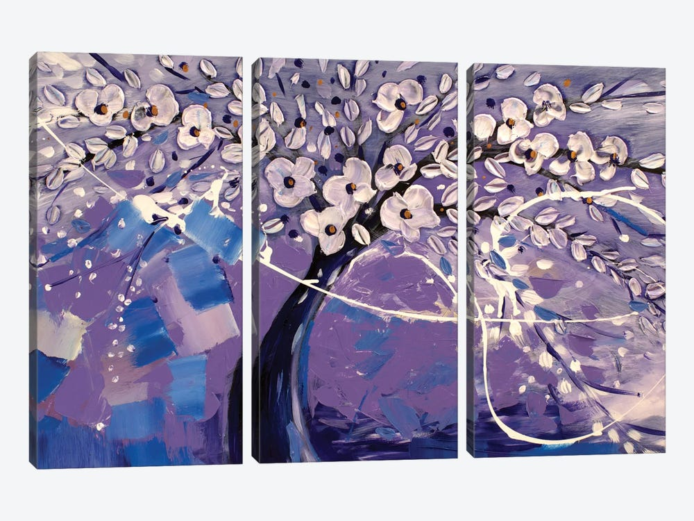 Purple Dream by Radiana Christova 3-piece Canvas Art Print
