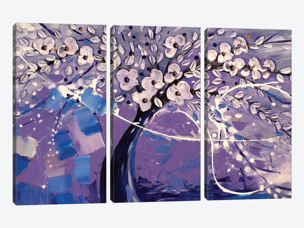 Purple Dream by Radiana Christova 3-piece Canvas Art Print