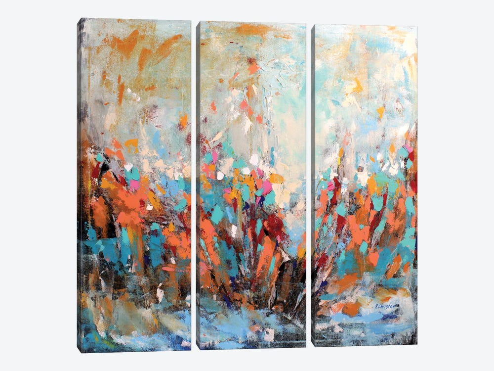 Abstract Garden by Radiana Christova 3-piece Canvas Art