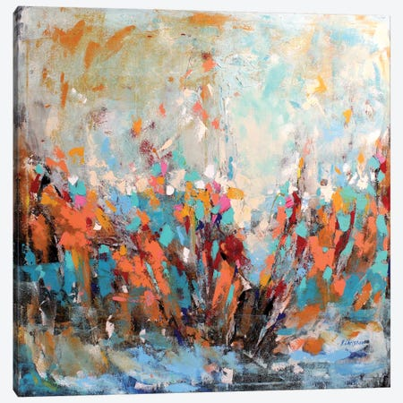 Abstract Garden Canvas Print #DZH4} by Radiana Christova Canvas Print