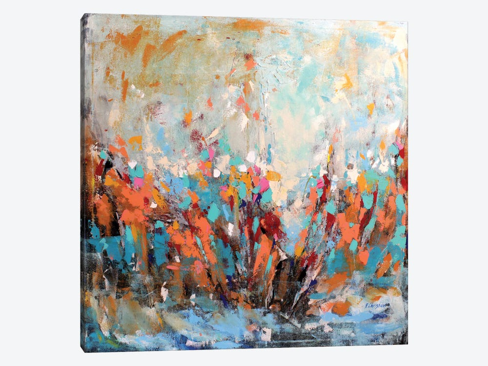 Abstract Garden 1-piece Canvas Artwork
