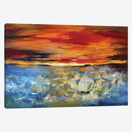 Sunset Canvas Print #DZH57} by Radiana Christova Canvas Wall Art