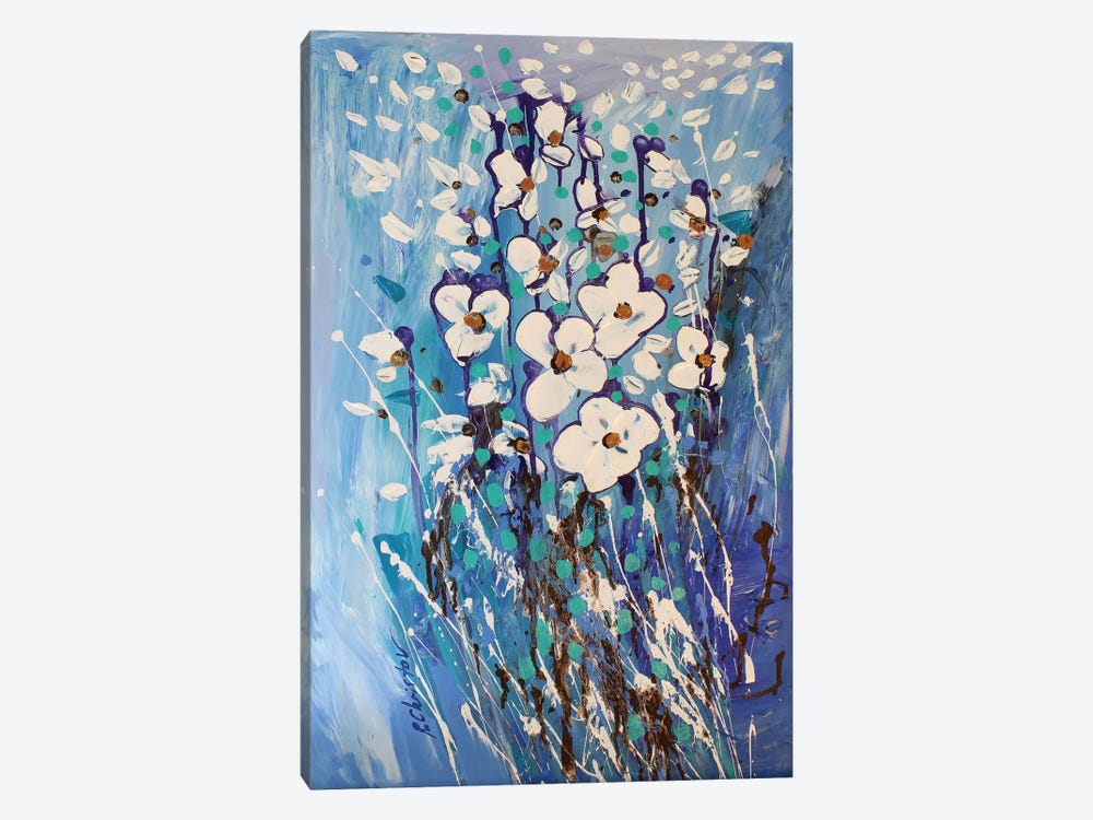 Abstract Garden III by Radiana Christova 1-piece Canvas Print