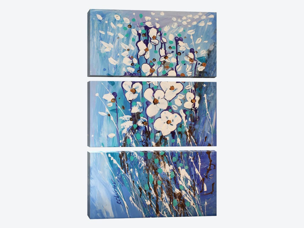 Abstract Garden III by Radiana Christova 3-piece Canvas Print