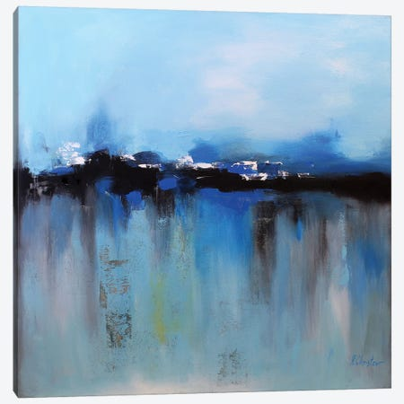 Blue Utopia Canvas Print #DZH65} by Radiana Christova Art Print