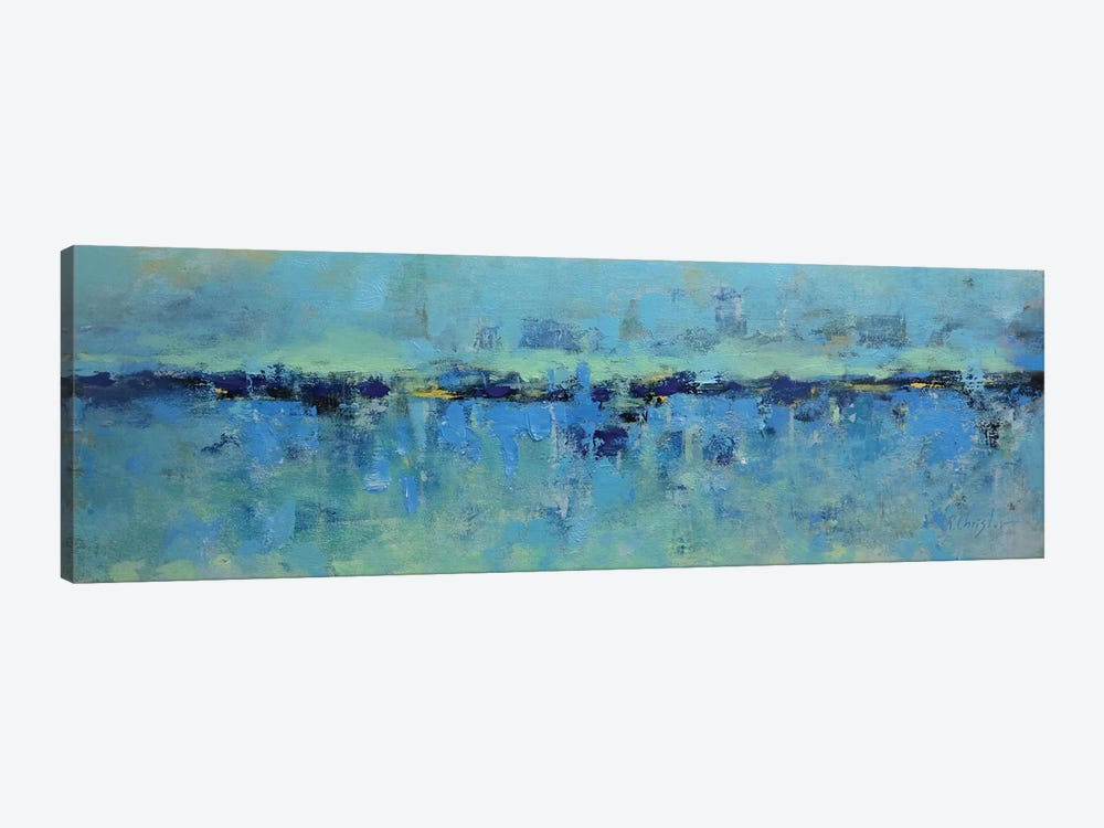 Abstract Seascape XXI by Radiana Christova 1-piece Canvas Print