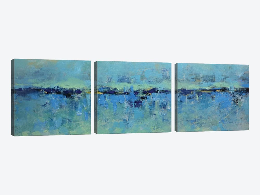 Abstract Seascape XXI by Radiana Christova 3-piece Canvas Print