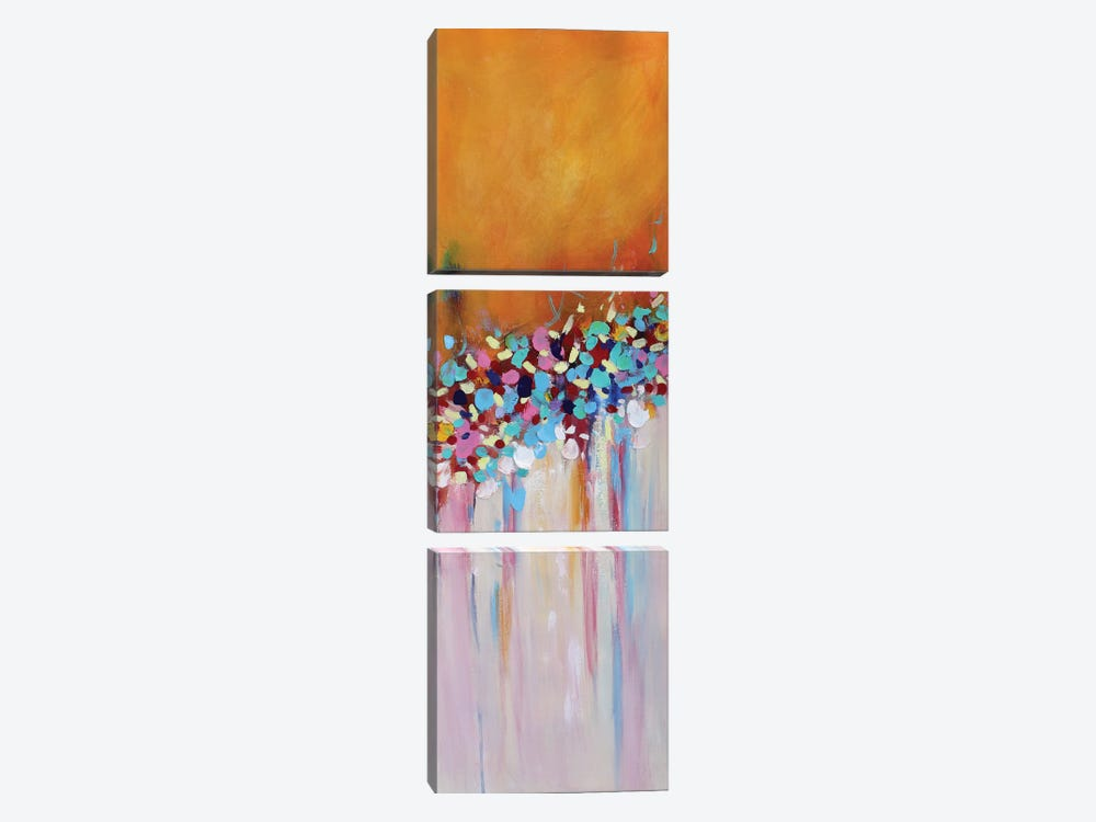 Abstract Garden V by Radiana Christova 3-piece Canvas Art Print