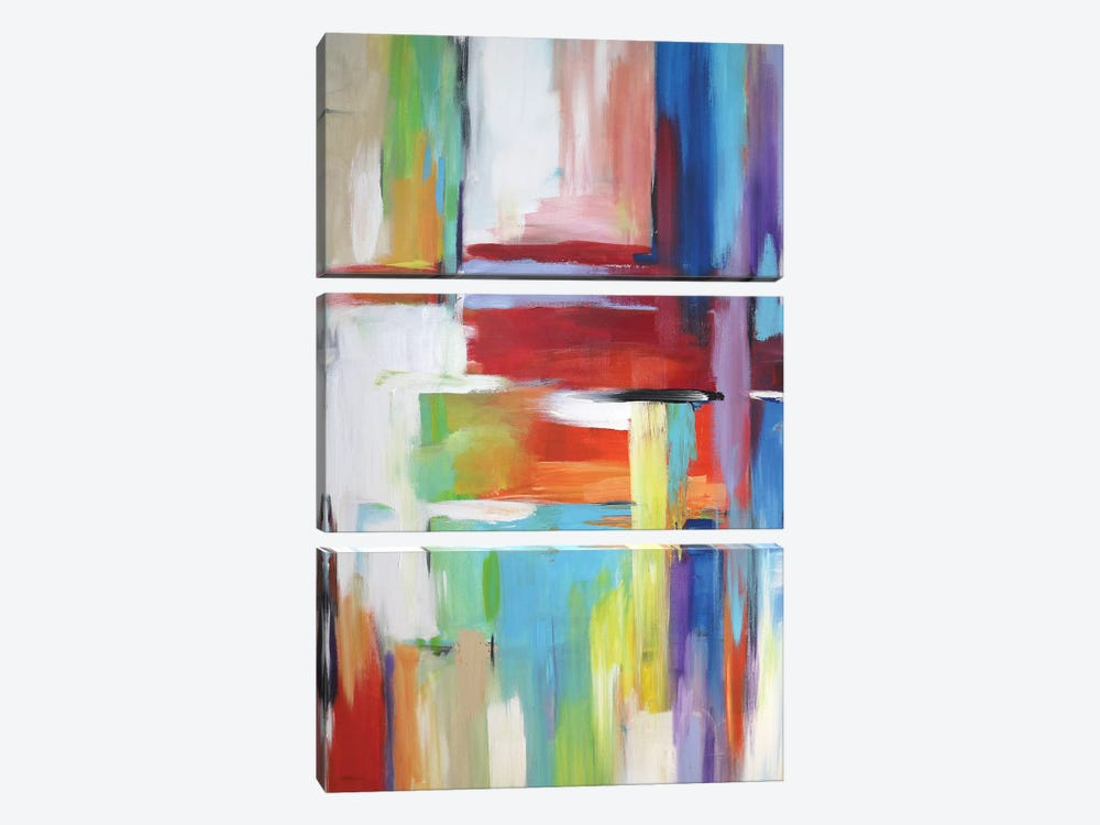 Abstract City Lights by Radiana Christova 3-piece Canvas Print