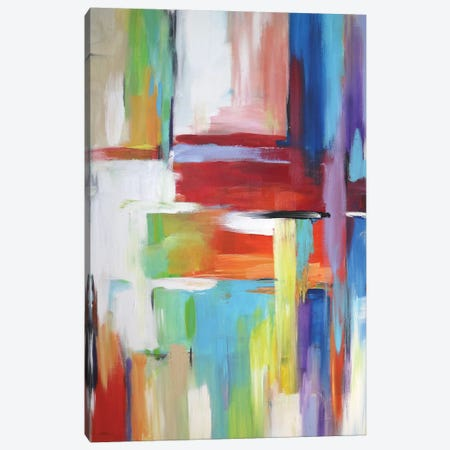 Abstract City Lights Canvas Print #DZH86} by Radiana Christova Canvas Print