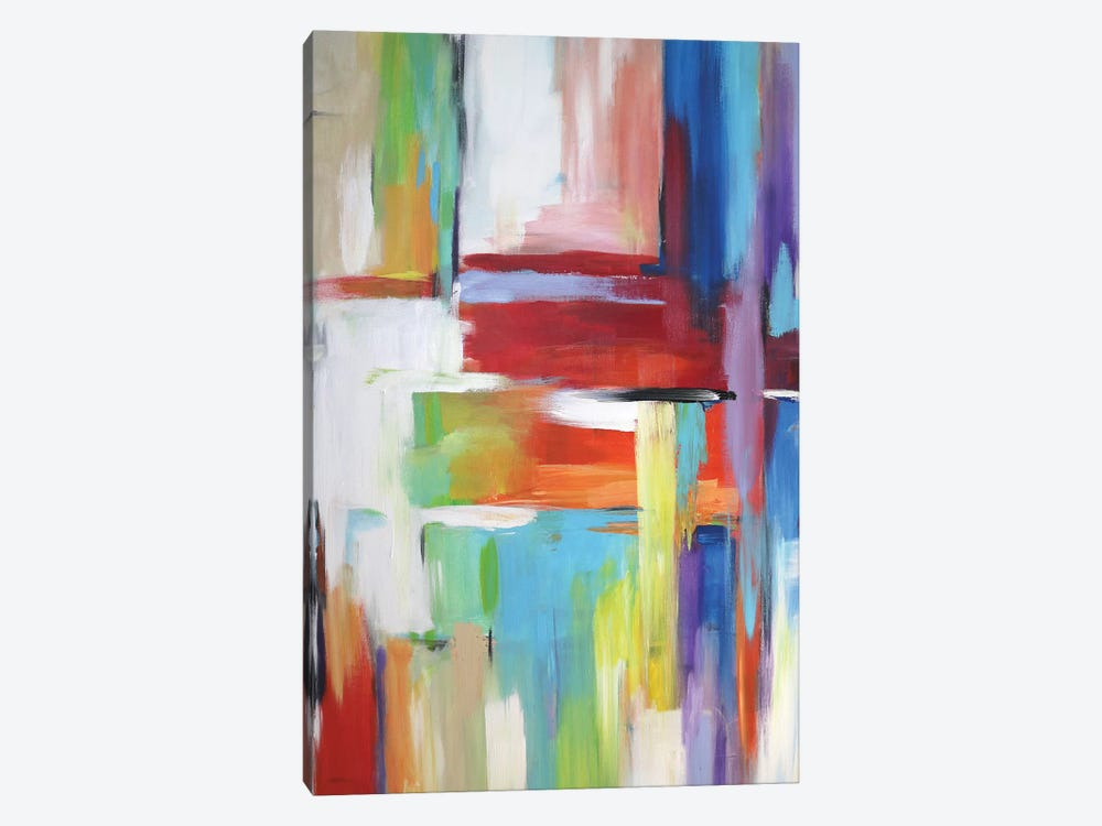 Abstract City Lights 1-piece Canvas Art Print