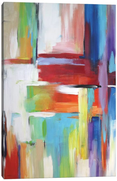 Abstract City Lights Canvas Art Print