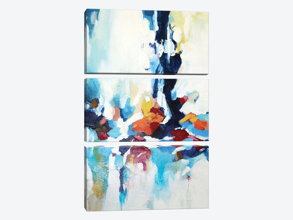 Abstract Garden VII by Radiana Christova 3-piece Canvas Print