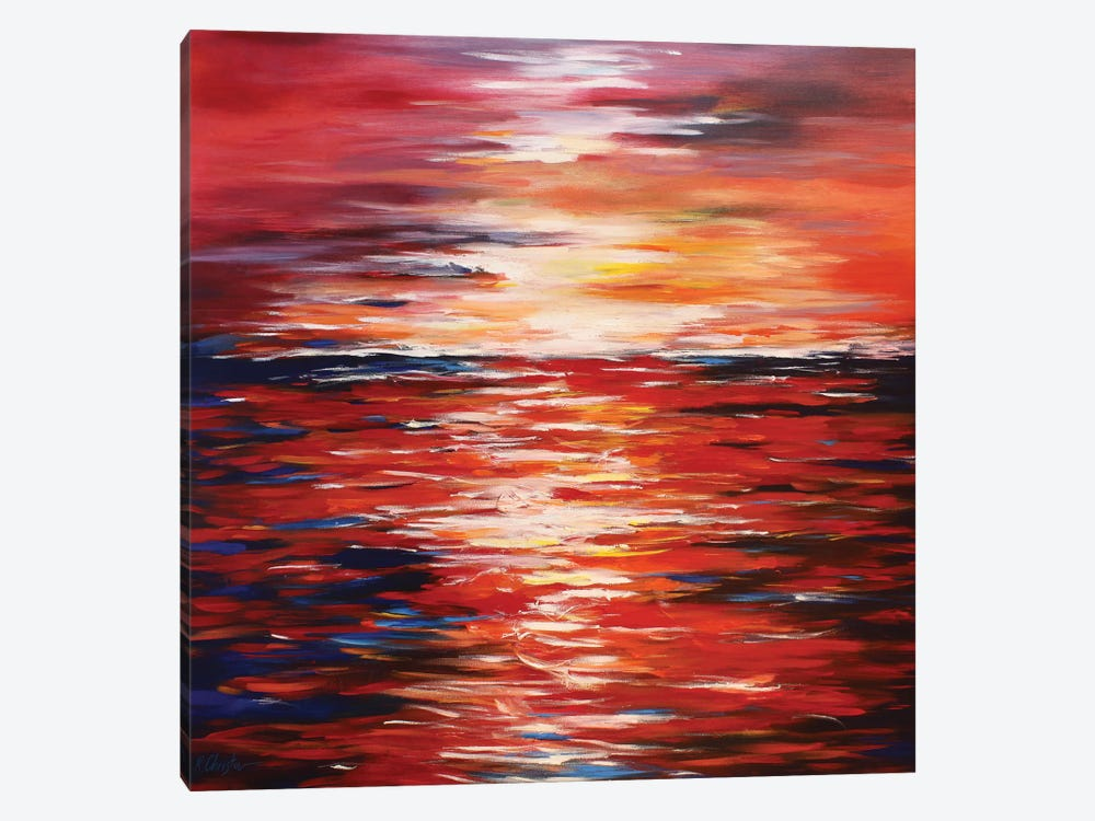 Abstract Landscape In Red by Radiana Christova 1-piece Canvas Wall Art