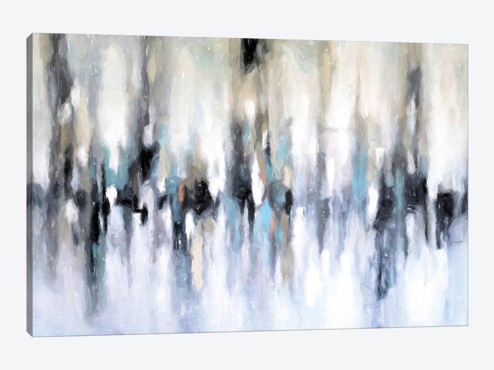 Abstract Cityscape by Radiana Christova 1-piece Canvas Art Print