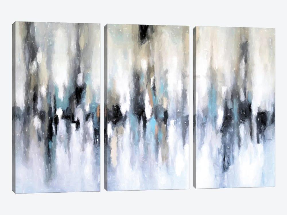 Abstract Cityscape by Radiana Christova 3-piece Canvas Art Print