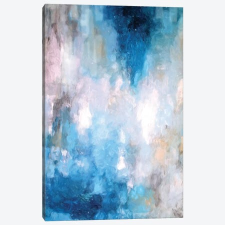 Abstract Rain V Canvas Print #DZH98} by Radiana Christova Art Print