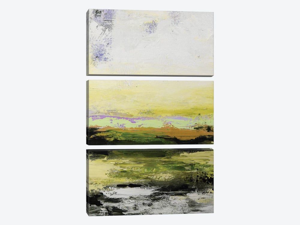 Abstract Landscape XIV by Radiana Christova 3-piece Canvas Print