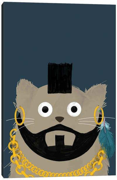Cat Mr T Canvas Art Print