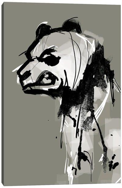 Angry Panda Canvas Art Print