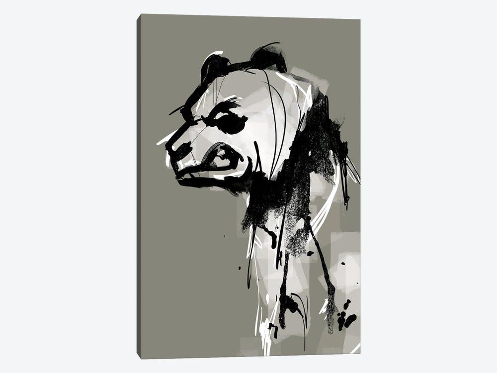 Angry Panda by Doozal 1-piece Canvas Print