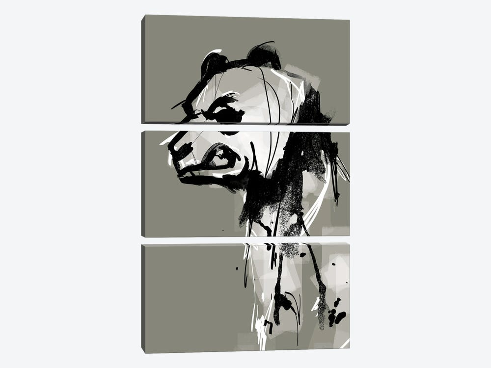 Angry Panda by Doozal 3-piece Art Print