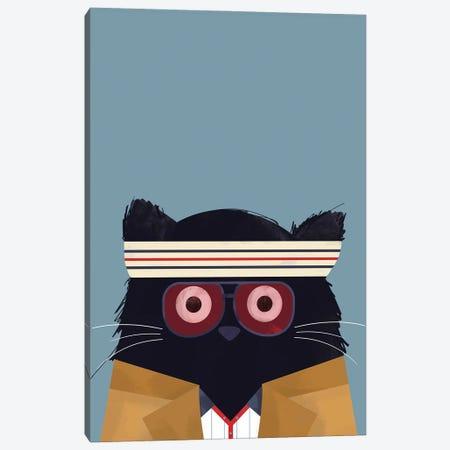 Cat Tenenbaum Canvas Print #DZL21} by Doozal Canvas Artwork