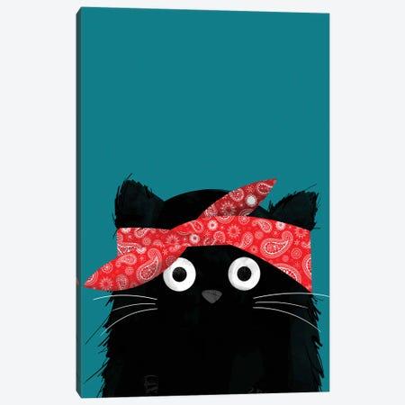 Cat Tupac Canvas Print #DZL22} by Doozal Canvas Art