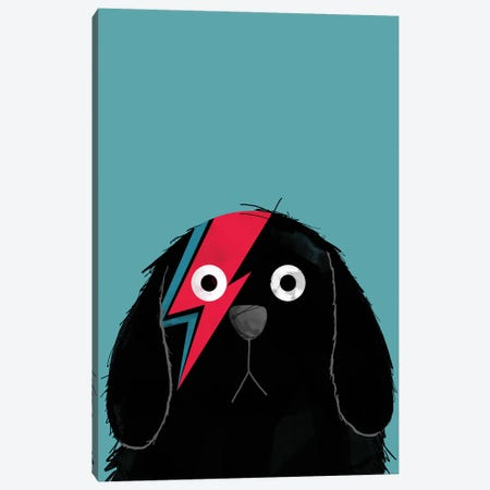 Dog Bowie Canvas Print #DZL25} by Doozal Canvas Art Print