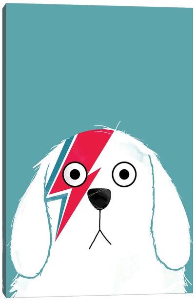 Dog Bowie - White Version Canvas Art Print