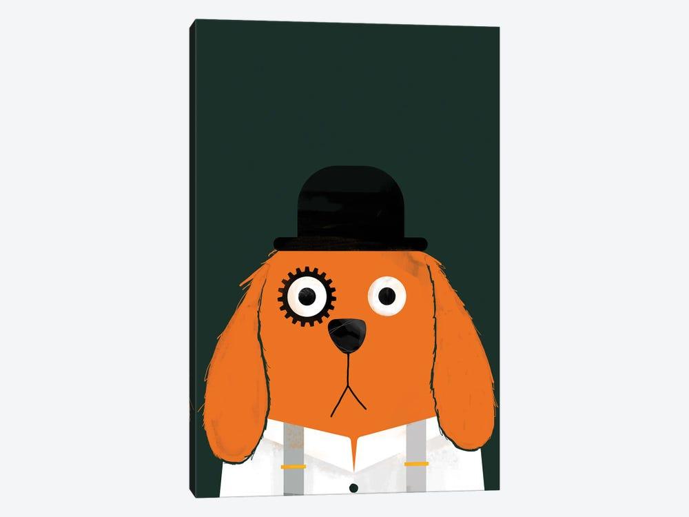 Dog Clockwork by Doozal 1-piece Canvas Art Print