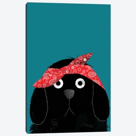 Dog Tupac Canvas Print #DZL30} by Doozal Art Print