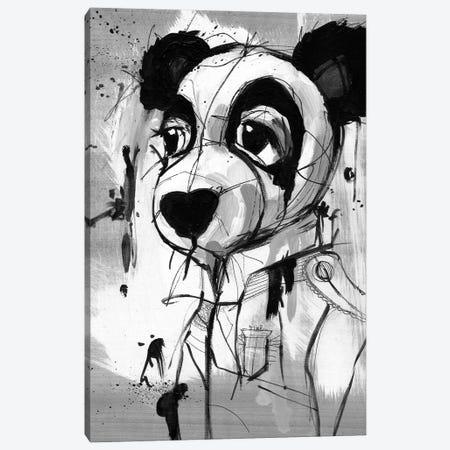 Panda Admiral Canvas Print #DZL36} by Doozal Canvas Wall Art