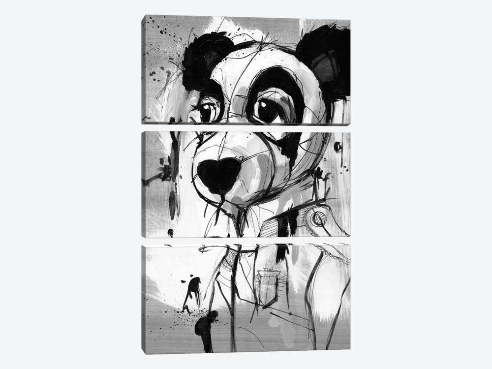 Panda Admiral by Doozal 3-piece Art Print