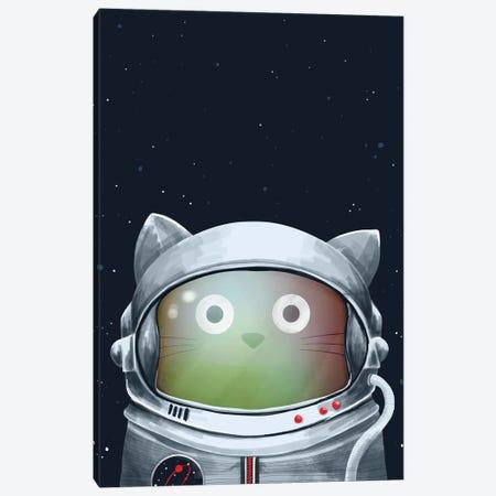 Cat Astronaut Canvas Print #DZL3} by Doozal Canvas Artwork